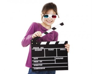 Movie Parties - girl with clapperboard