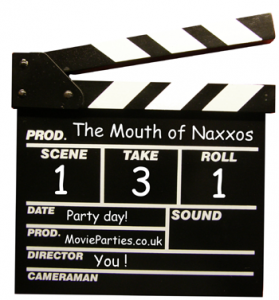 movie scripts for kids - clapperboard