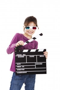 Kids party ideas - girl with 3D glasses